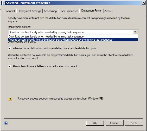 0x800700A1 when running command line task in SCCM 2012 OSD