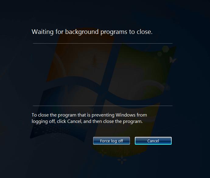 VMware View Windows 7 Desktop Hanging on Shutdown: Doesn't Close