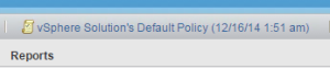 vRealize Policy