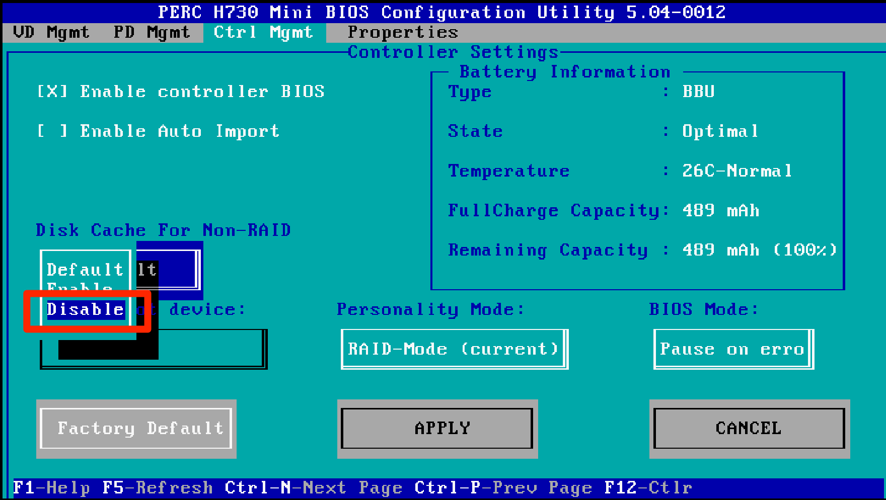 How to configure PERC H730 RAID Cards for VMware VSAN